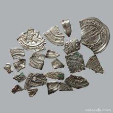 Monedas medievales: CONJUNTO DE FRAGMENTOS DE DIRHAM, PERIODO OMEYA, (10 G). B45-L. Lote 245603980