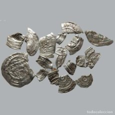Monedas medievales: CONJUNTO DE FRAGMENTOS DE DIRHAM, PERIODO OMEYA, (10 G). B47-L. Lote 245604010