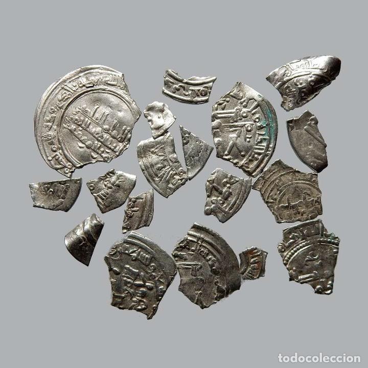 CONJUNTO DE FRAGMENTOS DE DIRHAM, PERIODO OMEYA, (10 G). B46-L (Numismática - Hispania Antigua- Medievales - Otros)