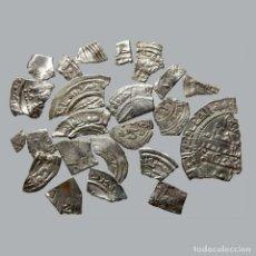 Monedas medievales: CONJUNTO DE FRAGMENTOS DE DIRHAM, PERIODO OMEYA, (10 G). B44-L. Lote 245604245