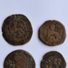 Moedas medievais: LOTE DE 4 MONEDAS MEDIEVALES DE COBRE.. Lote 253110880