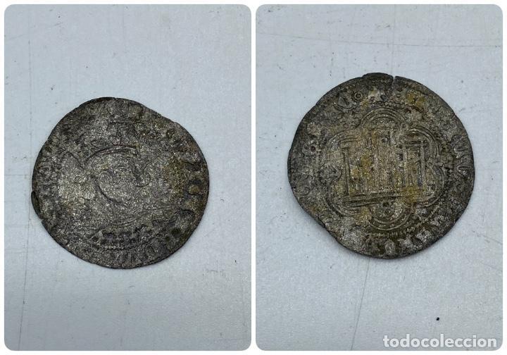 MONEDA. ENRIQUE II. MEDIO REAL DE VELLÓN. SEVILLA. VER (Numismática - Hispania Antigua- Medievales - Otros)