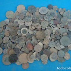 Moedas medievais: GRAN LOTE DE MONEDAS DE TODAS LAS EPOCAS . + 1 KILO .. Lote 264447824