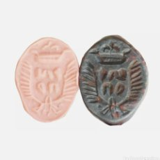 Monedas medievales: PRECIOSO ANILLO SELLO RELIGIOSO O HERALDICO S. XVI-XVII. Lote 268399419