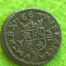 Monedas medievales: 8 MARAVEDÍS DE 1661. EN PERFECTO ESTADO DE CONSERVACIÓN..COBRE. FILIPUS IIII. Lote 271877853
