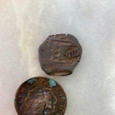 Monedas medievales: JUEGO 2 MONEDAS ANTIGUAS. Lote 277446988