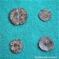 Monedas medievales: CUATRO MONEDAS DE LA EDAD MEDIA. Lote 291911493