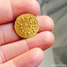 Monedas reinos visigodos: TRIENTE DE SISEBUTO CECA SEVILLA EBC. Lote 100047663