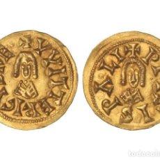 Monedas reinos visigodos: MONEDAS VISIGODAS, TRIENTE., ISPALI (BAÉTICA).. Lote 102911315