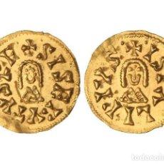 Monedas reinos visigodos: MONEDAS VISIGODAS, TRIENTE., ISPALI (BAÉTICA).. Lote 102911319