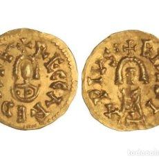 Monedas reinos visigodos: MONEDAS VISIGODAS, TRIENTE., EMERITA (LUSITANIA).. Lote 102911331