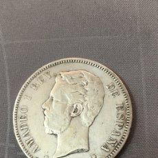 Monedas reinos visigodos: MONEDA PLATA 5 PESETAS AMADEOT 1871 ESTRELLAS 18 - 71. Lote 143997438