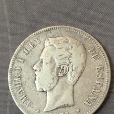 Monedas reinos visigodos: MONEDA 5 PESETAS. AÑO 1871. ESTRELLAS *18 *74 DEM. AMADEO I. Lote 143999189