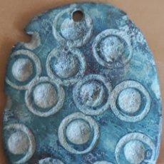 Monedas reinos visigodos: AMULETO VISIGODO PLACA DECORADA CÍRCULOS CONCÉNTRICOS SIGLO III-IV. Lote 153171746