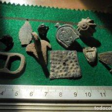Monedas reinos visigodos: LOTE DE 10 ARTEFACTOS VISIGODOS, PLATA , COBRE Y BRONCE, CON DECORACIONES INTERESANTES. Lote 153227578