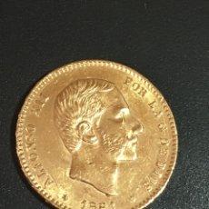 Monedas reinos visigodos: ALFONSO XII 1881 MS-M 25 PESETAS GOLD. Lote 153319437