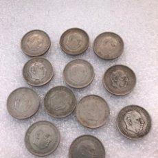 Monedas reinos visigodos: 12 MONEDAS DE 5 PESETAS 1957 ESTRELLAS *57 *59 *62 *63 *67 *68 *70 *71 *72 *73 *74 *75. Lote 178637673