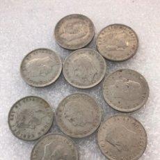 Monedas reinos visigodos: LOTE DE 9 MONEDAS 5 PESETAS JUAN CARLOS I. Lote 178637971
