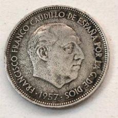 Monedas reinos visigodos: MONEDA 50 PESETAS FRANCISCO FRANCO 1957 *71. Lote 178639100