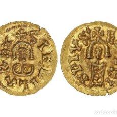 Monedas reinos visigodos: MONEDAS VISIGODAS, TRIENTE., EMERITA (LUSITANIA).. Lote 181486113