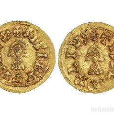 Monedas reinos visigodos: MONEDAS VISIGODAS, TRIENTE., ELVORA (LUSITANIA).. Lote 181486153