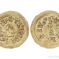 Monedas reinos visigodos: MONEDAS VISIGODAS, TRIENTE., ISPALI (BAÉTICA).. Lote 181486155