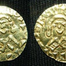 Monedas reinos visigodos: TREMIS TREMISSIS TRIENTE VISIGODO DEL REY GUNDEMARO, 1,4 GRAMOS DE ORO. Lote 189723216