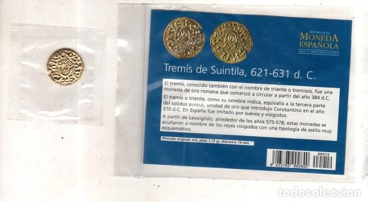 Monedas reinos visigodos: HISTORIA DE LA MONEDA ESPAÑOLA. EL MUNDO. TREMIS DE SUINTILA. - Foto 2 - 196590716