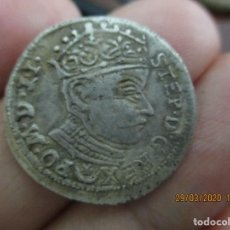 Monedas reinos visigodos: AUTENTICO RARE DANZIG SILESIA 3 GROSCHEN 1582 FROM STEPHAN BATORY. Lote 198584893