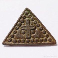 Monedas reinos visigodos: BONITA PLACA VISIGODA O MEDIEVAL A IDENTIFICAR. PROCEDE DE SUBASTA.. Lote 202486063