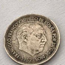 Monedas reinos visigodos: MONEDA 50 PESETAS FRANCISCO FRANCO 1957 *71. Lote 213244535