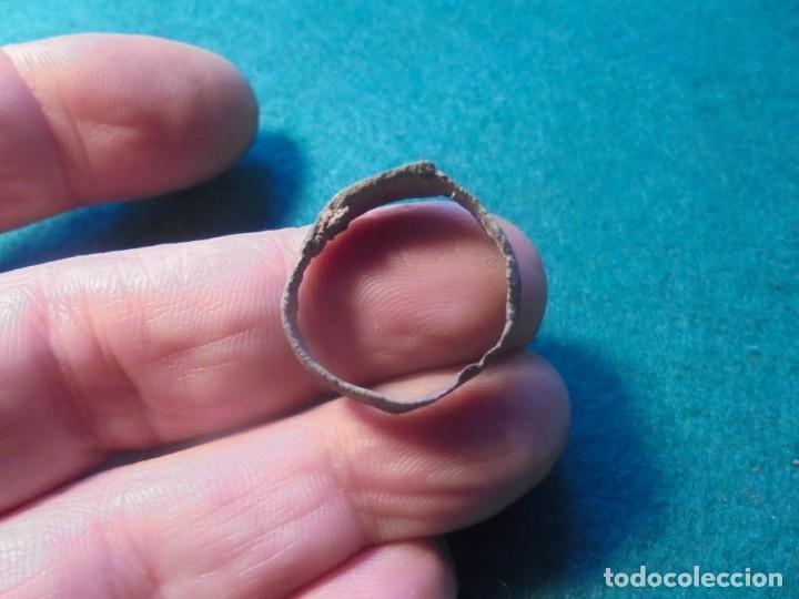 Monedas reinos visigodos: bonito anillo -sello en bronce , diametro 21 mm - Foto 2 - 237526405