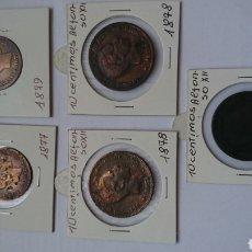 Monedas reinos visigodos: LOTE DE 5 MONEDAS, ESPAÑA, CINCO, DIEZ CENTIMOS. Lote 242031095