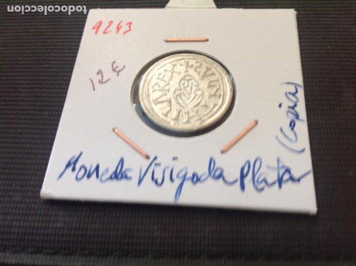 REPRODUCCION MONEDA PLATA (Numismática - Hispania Antigua - Reinos Visigodos)