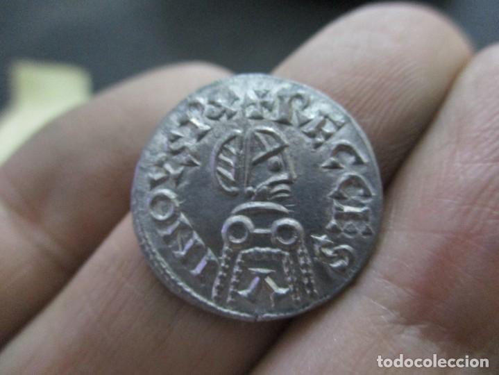 Monedas reinos visigodos: Triente de Rescenvito Acunacion ORIGINAL de becker (1803) - Foto 2 - 252245590