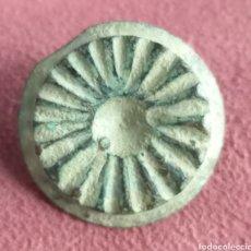 Monedas reinos visigodos: BOTÓN VISIGODO DE BRONCE TALLADO. Lote 290804908