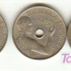 Monedas República: CINCO BONITAS MONEDAS DE 25 CÉNTIMOS DE 1934 SEGUNDA REPUBLICA ESPAÑOLA. Lote 22152269