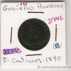 Monedas República: GOBIERNO PROVISIONAL 5 CENTIMOS . Lote 8222325