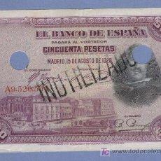 Monedas República: VELAZQUEZ INUTILIZADO Y TALADRADO .-RARO EN ESTA VERSION 1928. Lote 7242751