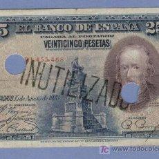 Monedas República: CALDERON DDE LA VARCA INUTILIZADO Y TALADRADO .-RARO EN ESTA VERSION 1928. Lote 7242755
