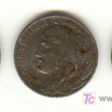 Monedas República: 1937 GUERRA CIVIL TRES BONITAS MONEDAS DE 5 CÉNTIMOS DE HIERRO CASTELLÓN Y ASPE EN ALICANTE. Lote 27411979
