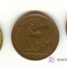 Monedas República: TRES BONITAS MONEDAS DE LA II REPÚBLICA ACUÑADAS DURANTE LA GUERRA CIVIL 25 Y 50 CTMS. Y UNA PESETA. Lote 27388203