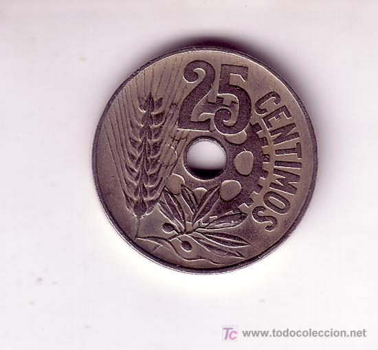Monedas República: 25 CENTIMOS-REPUBLICA 1934 - Foto 2 - 27265364