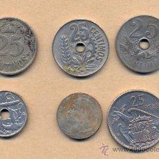 Monedas República: MONEDA 156 - 25 CMS 1934, 1927, 1925, 50 CMS 1963, 5 CMS 1937, 25 PTS 1957/70. Lote 23880294