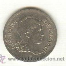 Monedas República: 0-BONITA PESETA ACUÑADA DURANTE LA GUERRA CIVIL AÑO 1937 PAIS VASCO GOBIERNO DE EUZKADI . Lote 26189526