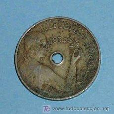 Monedas República: ESPAÑA 25 CENTIMOS DE PESETA 1934. REPUBLICA ESPAÑOLA. Lote 36137020