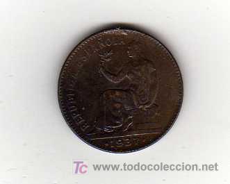 MONEDA DE 50 CENTIMOS - REPUBLICA ESPAÑOLA 1937 (Numismática - España Modernas y Contemporáneas - República)