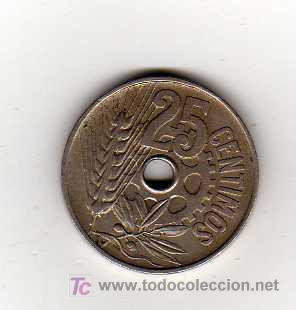 Monedas República: MONEDA DE 25 CENTIMOS - REPUBLICA ESPAÑOLA 1934 - Foto 2 - 15154142