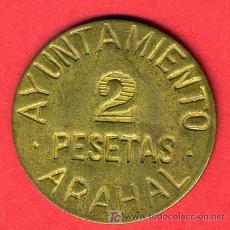 Monedas República: MONEDA 2 PESETAS GUERRA CIVIL , AYUNTAMIENTO DE ARAHAL , F577. Lote 25532155