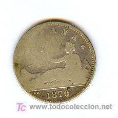 Monedas República: MONEDA 1 PESETA 1870. Lote 26416671